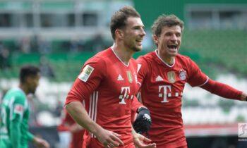 Σε θέση ισχύος για την κατάκτηση της Bundesliga παραμένει η Μπάγερν Μονάχου, καθώς το Σάββατο (13/3) επικράτησε 3-1 της Βέρντερ στη Βρέμη.