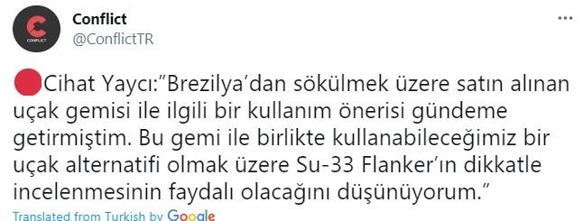 Τουρκία: Θέλουν να πάρουν τα Su-33 Flanker oι Τούρκοι αφού τους έδιωξαν από τα F-35 - Η πρόταση του απόστρατου Τούρκου αξιωματικού
