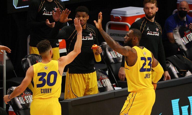 NBA All Star Game: Αποθέωσε τον Στεφ Κάρι ο Λεμπρόν Τζέιμς (pic)
