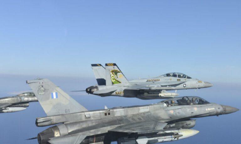 Ένοπλες δυνάμεις: Μαχητικά των ΗΠΑ «σαρώνουν» το Αιγαίο και καθηλώνουν τους Τούρκους (pics)