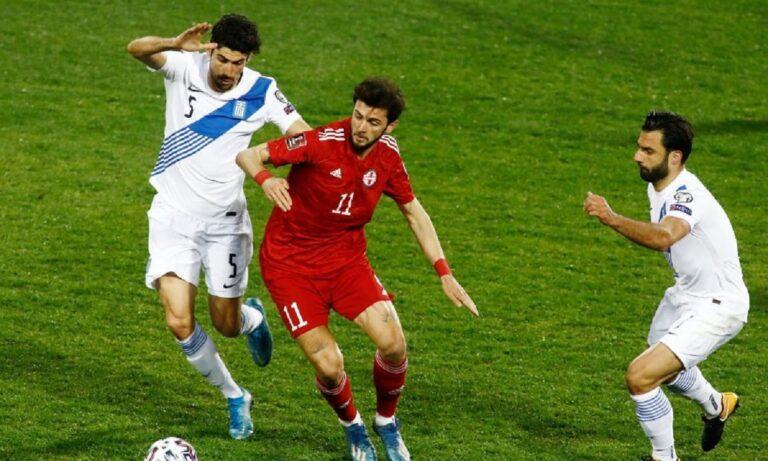 Ελλάδα – Γεωργία 1-1: Και πάλι καλά – Κακή η εικόνα της Εθνικής, απείλησε ελάχιστα, σωτήριες επεμβάσεις ο Βλαχοδήμος