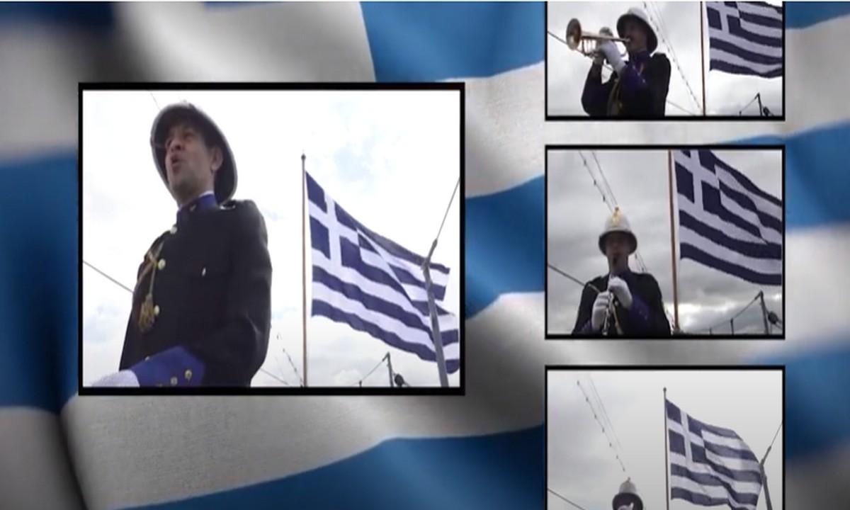 Ελληνική Επανάσταση: Ο Εθνικός Ύμνος από την μπάντα του Πολεμικού Ναυτικού – Υπέροχο video