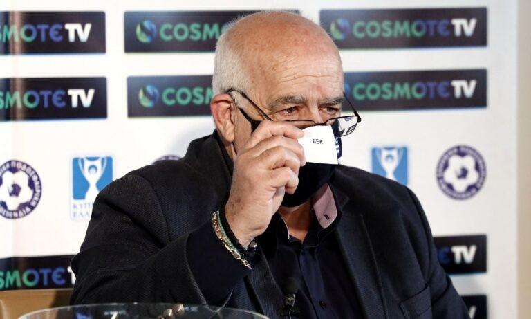 Ο πρόεδρος της επιτροπής κυπέλλου, Μάνος Γαβριηλίδης, μετά την κλήρωση της ημιτελικής φάσης του Κυπέλλου Ελλάδας μίλησε για τον ντόρο, που έγινε μετά την κλήρωση των προημιτελικών.
