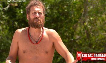Survivor 28/3: Με μεγάλες εντάσεις ξεκίνησε το επεισόδιο της Κυριακής αφού Τριαντάφυλλος και Κώστας Παπαδόπουλος ήρθαν σε ρήξη λίγο πριν