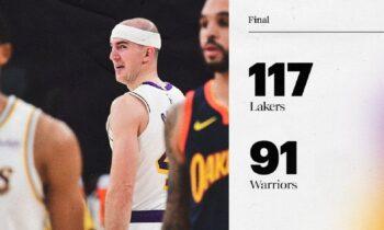 NBA Αποτελέσματα: «Σαρωτικοί» οι Λέικερς κόντρα στους Γουόριορς (vids)