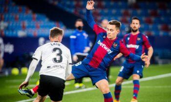 Η Λεβάντε επικράτησε 1-0 της Βαλένθια στην τοπική μονομαχία για την 27η αγωνιστική της Primera Division και κάνει... ευρωπαϊκά όνειρα.