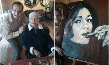 Μάρθα Καραγιάννη: Ο Σπύρος Μπιμπίλας και το εντυπωσιακό πορτραίτο!