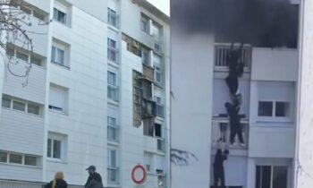 Συγκλονιστική προσπάθεια νεαρών να σώσουν ένα μωρό και τους γονείς του από φωτιά σε διαμέρισμα στη Γαλλία. Αποθέωση στο διαδίκτυο.