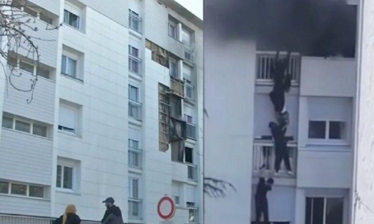 Γαλλία: Νεαροί σώζουν μωρό από φωτιά σε διαμέρισμα με συγκλονιστικό τρόπο (vid)