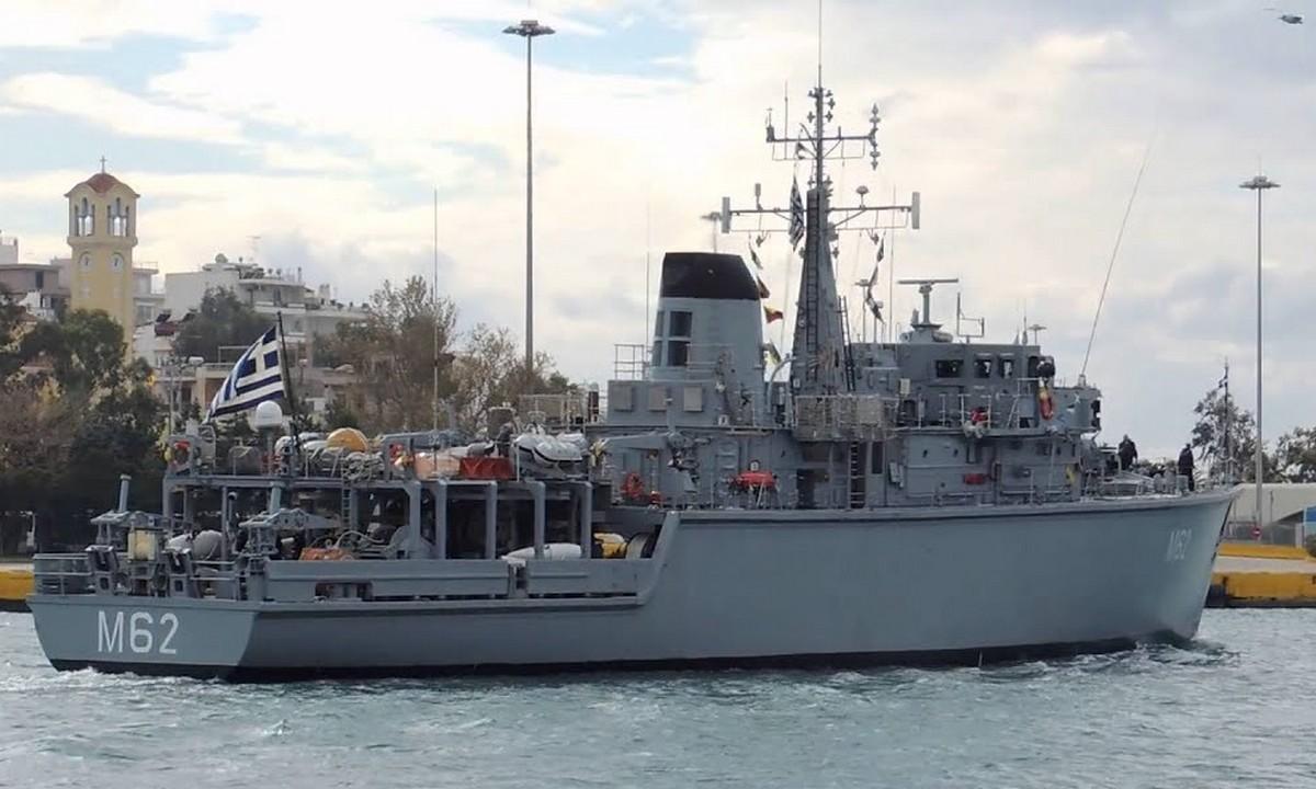 Ελληνοτουρκικά: «Καψόνι» από το Πολεμικό Ναυτικό στους Τούρκους καθώς το ελληνικό ναρκαλιευτικό «Ευρώπη» δεν δέχθηκε να σηκώσει την τουρκική