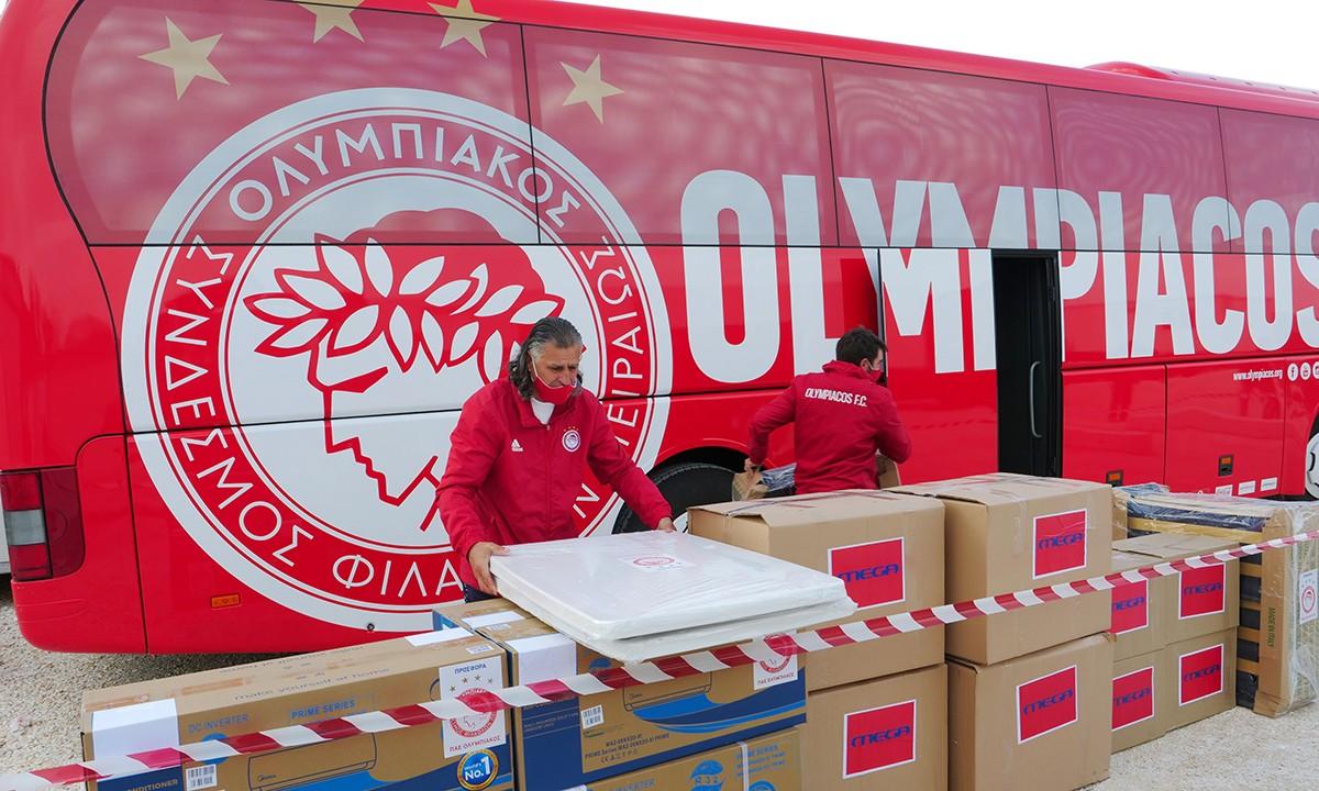 Ολυμπιακός: Ολοκληρώθηκε η μεταφορά 20 οικίσκων στην Ελασσόνα (photos)