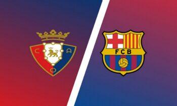 Οσασούνα-Μπαρτσελόνα: Παρακολουθήστε LIVE από το Sportime τη σαββατιάτικη (6/3) αναμέτρηση για την 26η αγωνιστική της Primera Division.