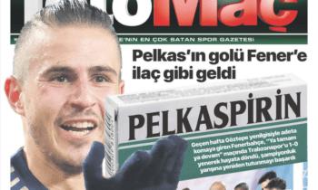 Ο Δημήτρης Πέλκας είναι το πρόσωπο της ημέρας στην Τουρκία μετά την αναμέτρηση της Φενεμπαρχτσέ με την Τραμπζονσπόρ.