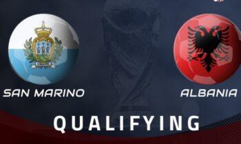 Σαν Μαρίνο-Αλβανία: Το LIVE του Sportime για την αναμέτρηση στο πλαίσιο της προκριματικής φάσης του Παγκοσμίου Κυπέλλου 2022.