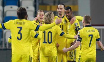 Κόσοβο - Σουηδία 0-3: Εύκολη νίκη και μόνη πρώτη στον όμιλο της Ελλάδας
