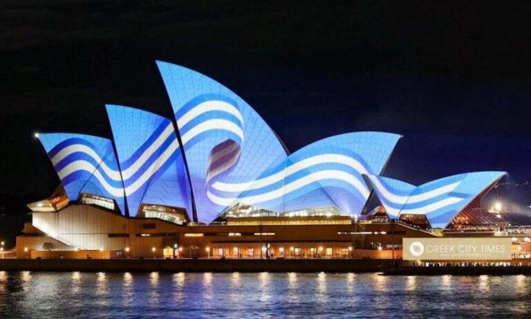 Η Όπερα του Σίδνεϊ τιμά την 25η Μαρτίου και τα 200 χρόνια απο την Ελληνική Επανάσταση.