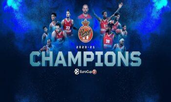 Η Μονακό κατέκτησε το Eurocup αφού νίκησε την Ούνικς του Δημήτρη Πρίφτη και στον Καζάν και έκανε το 2-0 στη σειρά των τελικών της διοργάνωσης