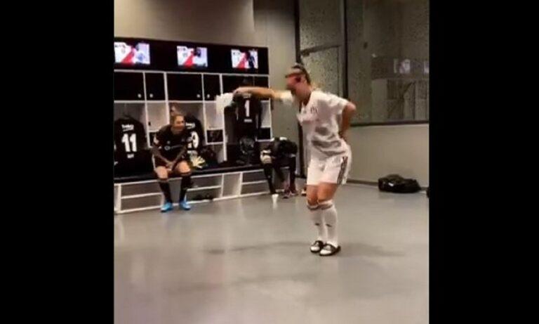Τουρκία: Παίκτρια της Μπεσίκτας το έριξε στον… χορό και έγινε Viral (vid)