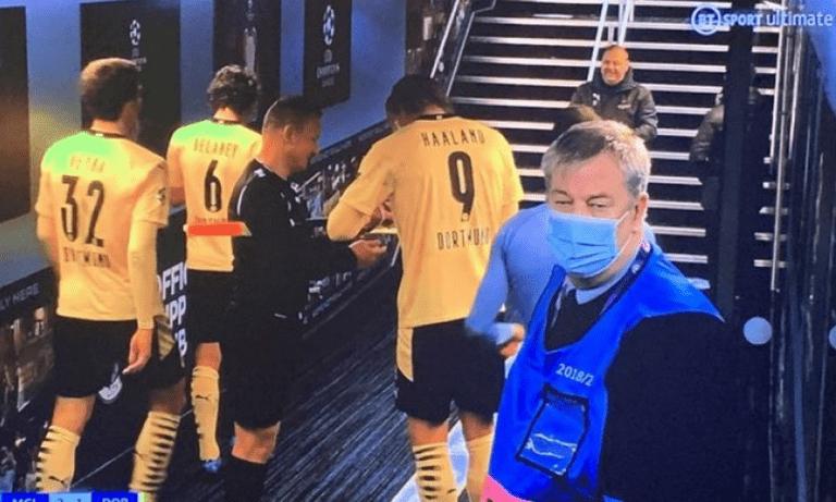 Champions League: O επόπτης ζήτησε αυτόγραφο από τον Χάαλαντ (vid)
