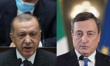 Ιταλία - Τουρκία: «Χαμός» έχει ανάμεσα στις δύο χώρες μετά τη δήλωση του Μάριο Ντράγκι κατά του Ερντογάν τον οποίο χαρακτήρισε δικτάτορα.