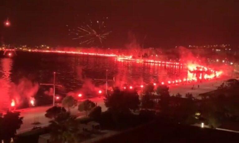 ΠΑΟΚ: Το pyroshow για τα γενέθλια του που φώτισε όλη τη Θεσσαλονίκη (vids)