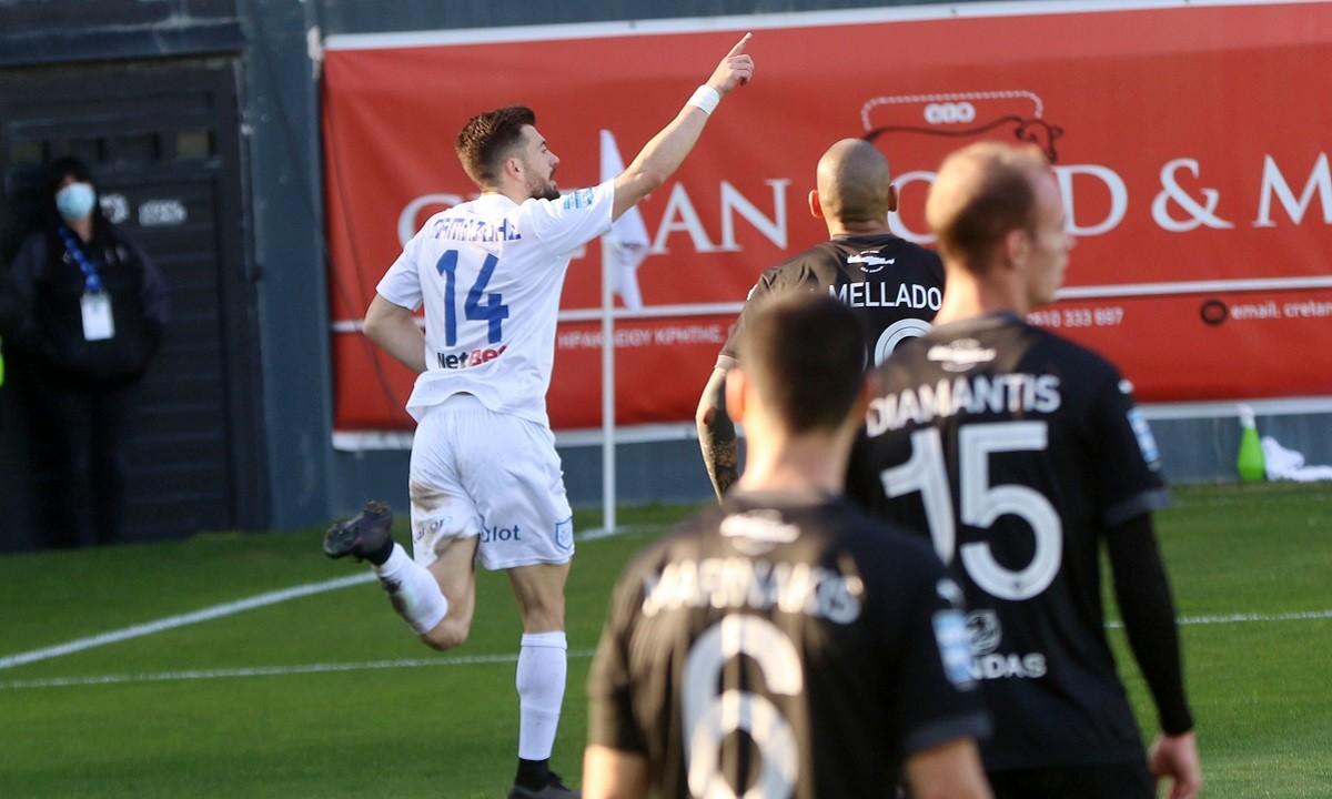 ΟΦΗ-ΠΑΣ Γιάννινα: Ο Παμλίδης κάνει το 0-1 στις καθυστερήσεις του ημιχρόνου (vid)
