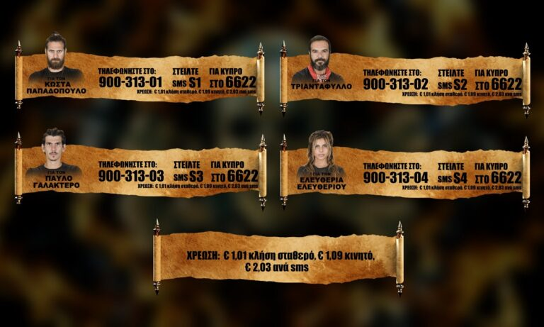 Survivor προτεινόμενοι spoiler 14/4: MEGA POLL! Ψηφίστε ποιος θέλετε να αποχωρήσει από το παιχνίδι!