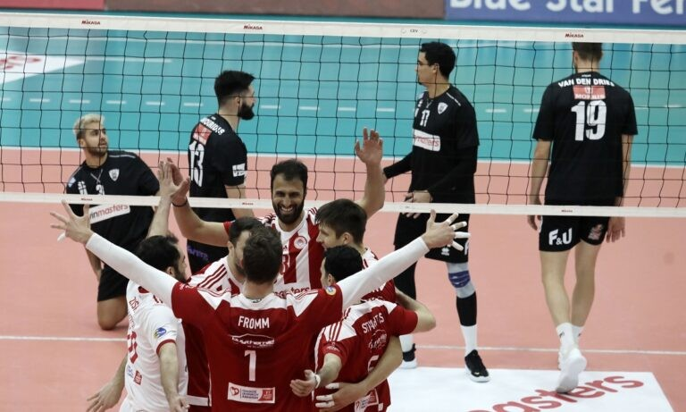 Volley League: «Σφραγίζει» τον τίτλο ο Ολυμπιακός με νίκη κόντρα στον ΠΑΟΚ