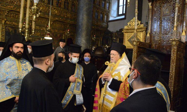 Ακάθιστος Ύμνος:Η Α.Θ.Παναγιότης ο Οικουμενικός Πατριάρχης κ.κ. Βαρθολομαίος χοροστάτησε κατά την Ακολουθία του Ακαθίστου Ύμνου στον Πάνσεπτο Πατριαρχικό Ναό.