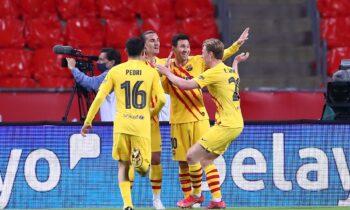 Αθλέτικ Μπιλμπάο – Μπαρτσελόνα 0-4: Καταιγίδα η «Μπάρτσα», διέλυσε τους Βάσκους και κατέκτησε το 31ο Κύπελλο Ισπανίας