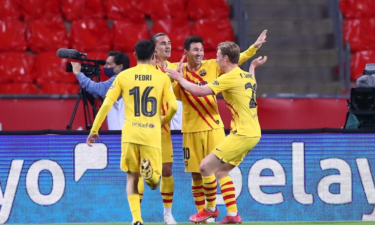 Αθλέτικ Μπιλμπάο – Μπαρτσελόνα 0-4: Καταιγίδα η «Μπάρτσα», διέλυσε τους Βάσκους και κατέκτησε το 31ο της Κύπελλο Ισπανίας