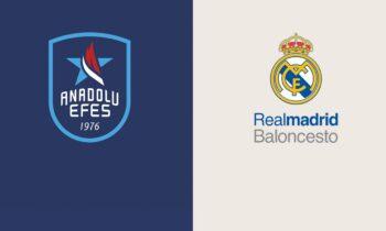 Αναντολού Εφές-Ρεάλ Μαδρίτης: Παρακολουθήστε live από το Sportime την αναμέτρηση για τα πλέι οφ της Euroleague.