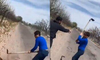Σκληρές εικόνες: Γυναίκα έσπασε το κρανίο ενός άντρα που υπερασπίστηκε δύο σκυλιά
