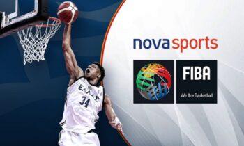 Νέα συμφωνία FIBA και Novasports - Μέχρι το καλοκαίρι του 2025