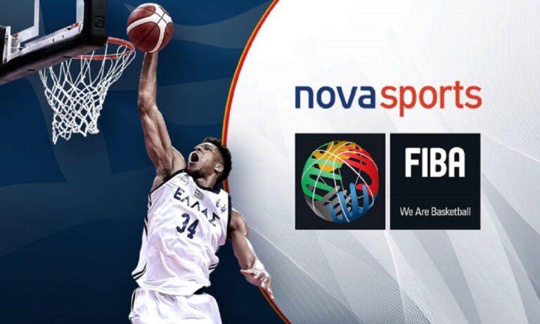 Νέα συμφωνία FIBA και Novasports – Μέχρι το καλοκαίρι του 2025
