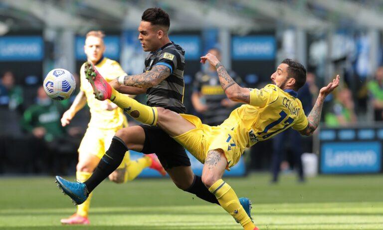 Ακόμη πιο κοντά στην κοντά στην κατάκτηση του πρωταθλήματος βρίσκεται η Ίντερ, καθώς στο πλαίσιο της 33ης αγωνιστικής επικράτησε με 1-0 της Βερόνα.