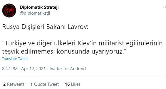 Λαβρόφ: Προειδοποιούμε την Τουρκία για τις κινήσεις της, δήλωσε την Δευτέρα ο Ρώσος υπουργός Εξωτερικών.