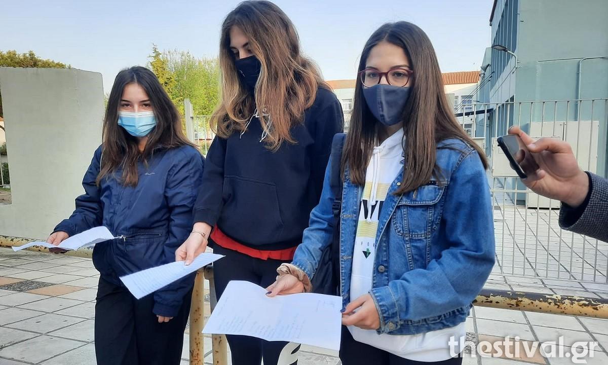 Lockdown: Επέστρεψαν στα Λύκεια με self test οι μαθητές (vids)
