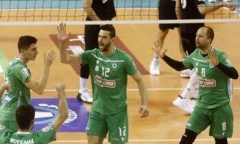 Volley League: Ο Παναθηναϊκός άλωσε την Πυλαία, 3-2 τον ΠΑΟΚ - Οριστικά 2ος ο Φοίνικας, 3-0 τον Ολυμπιακό