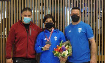 Πρεβολαράκη: Στην Αθήνα επέστρεψε από την Πολωνία η ασημένια πρωταθλήτρια Ευρώπης, η Κυρία της ελληνικής Πάλης.