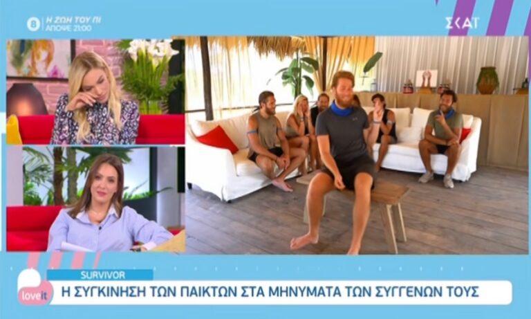 Survivor: «Λύγισε» on air, κατά τη διάρκεια της εκπομπής Love It στον ΣΚΑΪ, η παρουσιάστρια Ιωάννα Μαλέσκου.