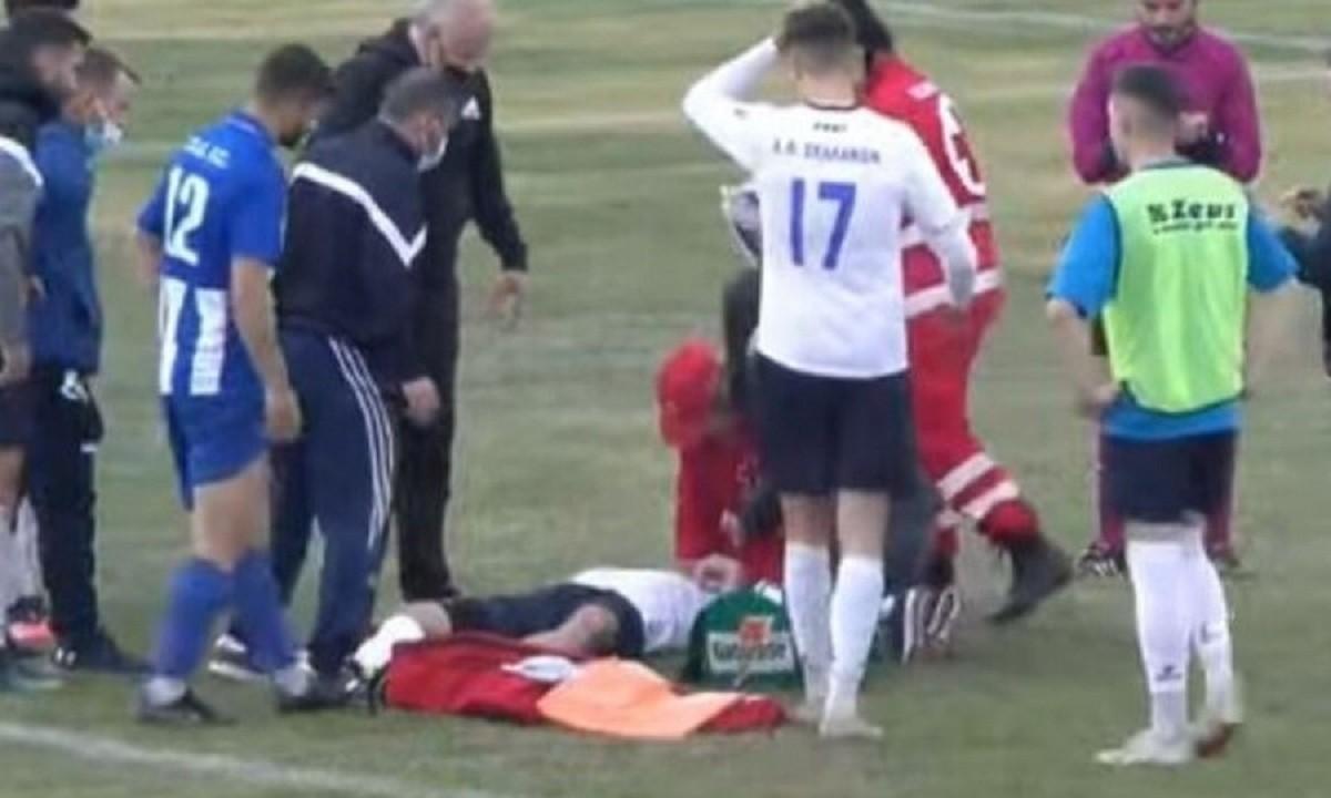 Γ' εθνική – ΠΟ Ελασσόνας – ΑΟ Σελλάνων: Σοκαριστικός τραυματισμός ποδοσφαιριστή!
