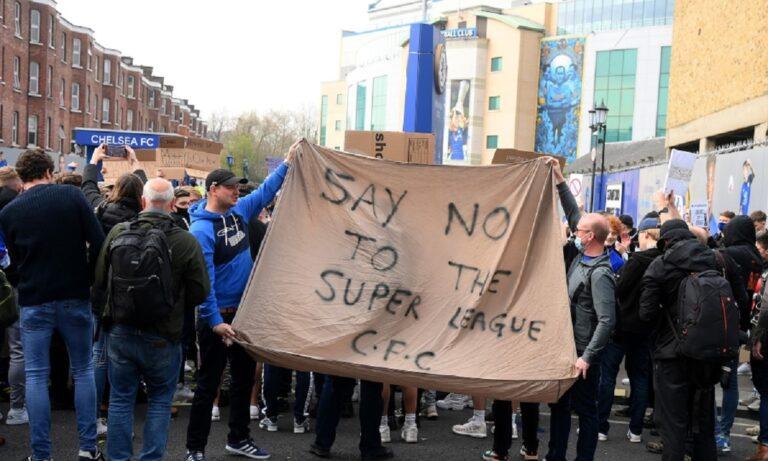 Τσέλσι: Πορεία οπαδών κατά της European Super League – Τα «γυρίζει» ο σύλλογος (vid)