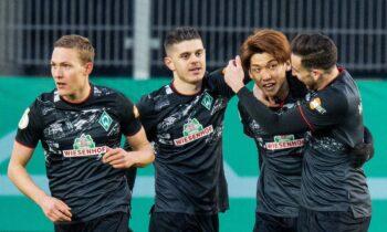 DFB Pokal: Η Βέρντερ Βρέμης επικράτησε 1-0 της Ρέγκενσμπουργκ (ομάδα Β' Γερμανίας) καιπροκρίθηκε στην ημιτελική φάση.