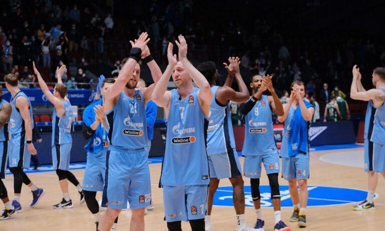 Euroleague: Η κατάταξη μετά τη νίκη της Ζενίτ
