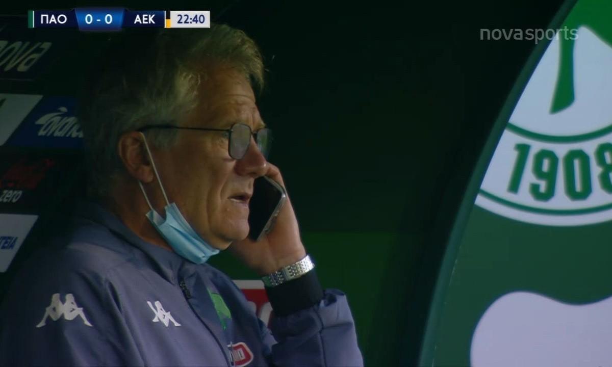 Παναθηναϊκός – ΑΕΚ: Με το ματς σε εξέλιξη ο Μπόλονι μιλούσε στο τηλέφωνο!