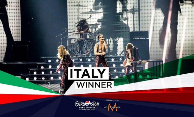 Ολοκληρώθηκε η Eurovision 2021 και η μεγάλη νικήτρια ήταν η Ιταλία. Ούτως ή άλλως η γειτονική χώρα πήγε στο Ρότερνταμ ως ένα από τα μεγάλα φαβορί και επιβεβαίωσε στο φινάλε τον χαρακτηρισμό αυτό.