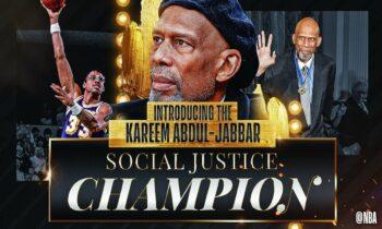 Το NBA ανακοίνωσε τη δημιουργία του «Βραβείου Κοινωνικής Δικαιοσύνης Καρίμ Αμπντούλ Τζαμπάρ» προκειμένου να τιμήσει το θρυλικό σέντερ που άφησε το στίγμα του όχι μόνο για τα τεράστια επιτεύγματά του στο γήπεδο.