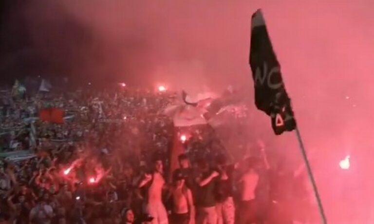 Κύπρος: To… έκαψαν οι οπαδοί της Ομόνοιας για την κατάκτηση του τίτλου (vid)