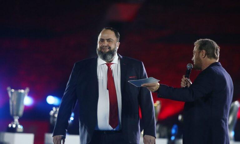 Ο Βαγγέλης Μαρινάκης ήταν λιτός αλλά περιεκτικός, στο μήνυμα του αναφορικά με την κατάκτηση του 46ου πρωταθλήματος.